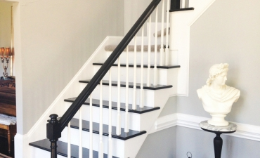 Painted Stair Treads, Rails and Spindles