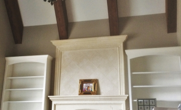 Painted Walls and Stained Beams